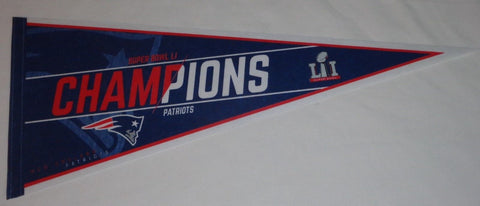 2016 Superbowl 51 World Champions New England Patriots Pennant FREESHIP