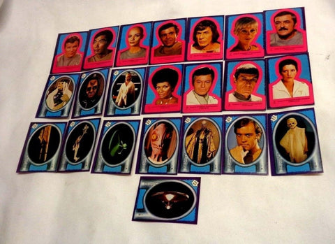 1979 Topps Star Trek Motion Picture Complete 22 Sticker Set Mint From Wax Pack