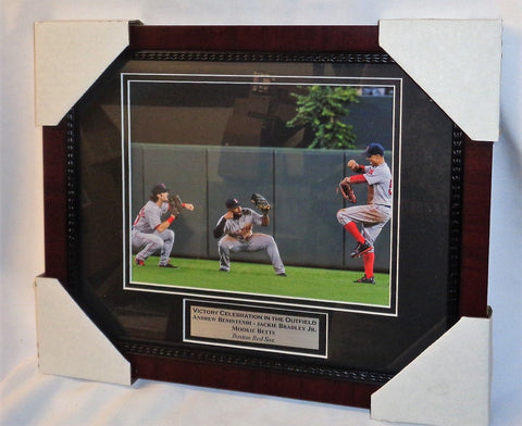 Fenway Red Sox Win Dance Repeat Betts Bradley Benintendi Framed Picture 13x16