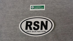 Fenway Park Boston Red Sox Nation RSN Oval Logo Black Bumper Sticker Decal (B) FREESHP