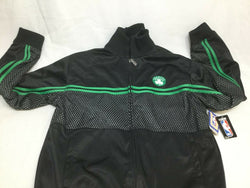 New Official NBA Boston Celtics Black Warm Up Jacket Coat Size Mens XLarge