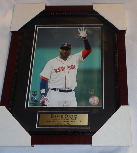 Fenway Park Red Sox David Ortiz Retirement Game Framed Matted Picture 13x16