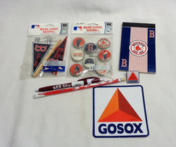 Boston Red Sox Fan Lot Sticker Pin Pen Mini Pennant Bottle Cap Set FREESHIP
