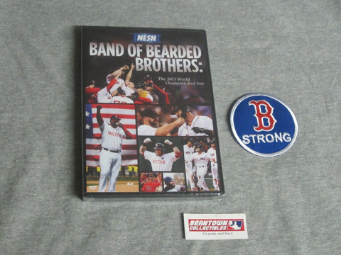 Red Sox 2013 World Series Champions NESN Bearded Brothers DVD B Strong Patch Lot