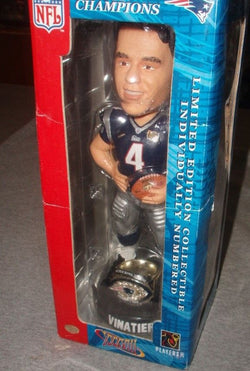 New England Patriots SuperBowl 38 Champions Ring Adam Vinatieri Bobblehead RARE