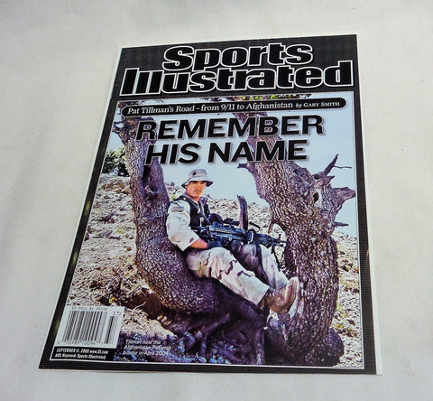 Sept 11 2006 Sports Illistrated SI Pat Tillman Cover Picture 8x10 Photo FREESHIP