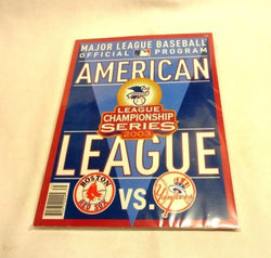 MLB Official 2003 ALCS New York Yankees Boston Red Sox Program Scorecard Fenway