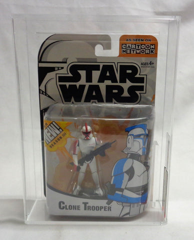 2004 Star Wars The Clone Wars Animated Series Red Clone Trooper Figure AFA 7