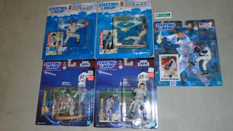 Starting Lineup SLU New York Yankees 5 Figure Lot SEALED Cone Tino Berine FREESH