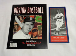 July 22, 2005 Boston Baseball Red Sox Program Ted Williams Night Fenway Park