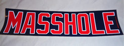 New England Boston Themed Masshole Bumper Sticker Decal 12x3 Size BLUE Color