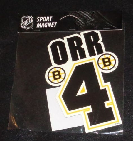 RARE New Boston Bruins HOF Bobby Orr #4 Flat Logo Magnet Car Type FREESHIP