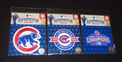 2016 World Series Champions Chicago Cubs 100th Wrigley Field Patch Lot of 3