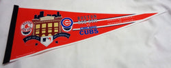 2011 Fenway Park Boston Red Sox Chicago Cubs Duel Logo Pennant FREESHIP