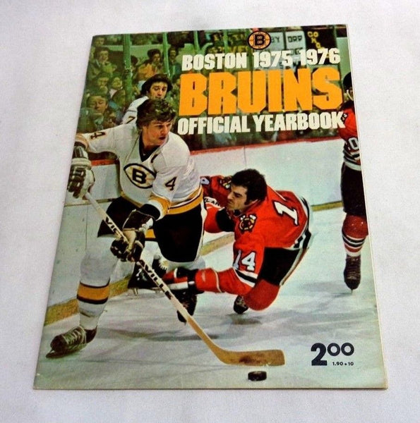 1975 1976 Boston Bruins Official Team Yearbook Bobby Orr LAST Cover FREESHIP