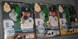 2014 OYO New York Yankees Derek Jeter Retirement Figure Set Gold Silver Bronze