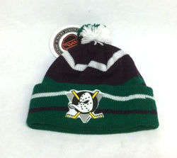 1993 Vintage Disney Anaheim Mighty Ducks Winter Knit Hat Youth Childrens NEW (A)