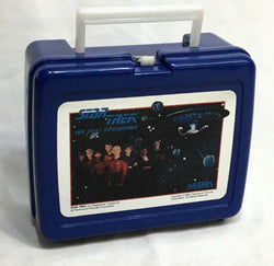 1989 Star Trek TNG Next Generation Plastic Lunchbox Thermos NEW Tags FREESHIP