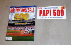 2015 Boston Baseball Red Sox Program David Ortiz 500 Home Run Sticker Lot
