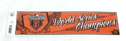 2010 World Series Champions San Francisco Giants Bumper Sticker Decal 10x3 Size