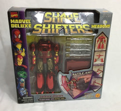 1999 Toybiz Marvel Deluxe Shape Shifters Iron Man Battle Ax NEW Boxed Sealed