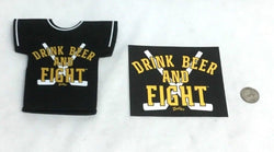 Bruins Drink Beer and Fight Believe in Boston Beer Bottle Jersey Coozie/ Sticker