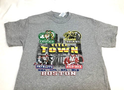 Boston Red Sox Patriots Bruins Celtics Titletown Championships T Shirt Small