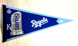 2015 World Series Champions Kansas City Royals Pennant Trophy Logo FREESHIP