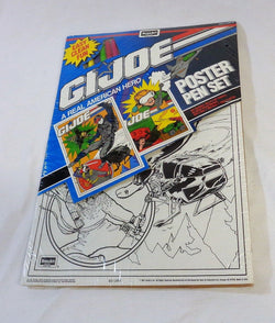 1991 Vintage G.I. Joe Rose Art Drawing Board Color Poster & Pen Set Sealed NEW