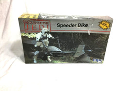 1983 MPC Vintage Star Wars ROTJ Speeder Bike Plastic Model Kit Box Set Sealed