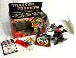 RARE 1988 Hasbro Vintage G1 Transformers Monsterbot Doublecross Complete Boxed