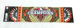 2012 World Series Champions San Francisco Giants Bumper Sticker Decal 10x3 Size