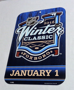 2016 Winter Classic Boston Bruins Montreal Canadiens Logo Sign Gillette Stadium