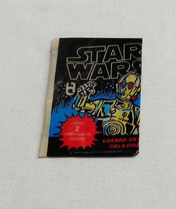 RARE 1977 Topps Mexican Mexico Star Wars Series 1 Empty Wax Wrapper C3PO