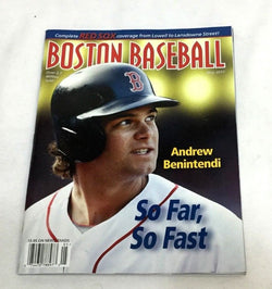 May 2017 Fenway Park Boston Baseball Red Sox Program Scorecard Andrew Benintendi