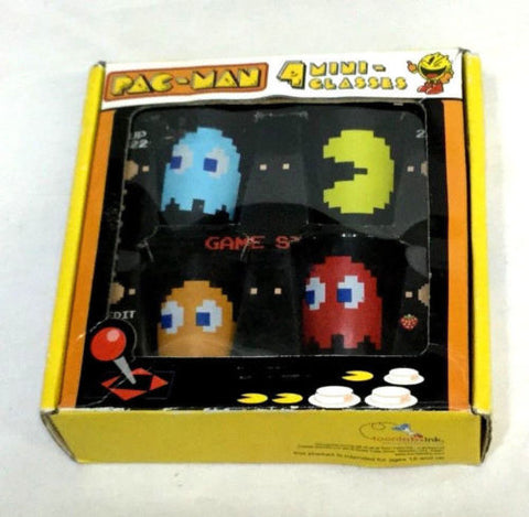 Atari Arcade Pac-Man Ghosts Shot Glass 4 Pack Gift Set Pacman Inky Blinky Clyde