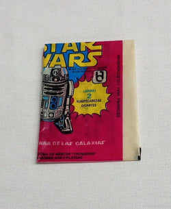 1977 Topps Mexican Mexico Star Wars Series 3 Empty Wax Wrapper R2D2