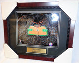 Boston Celtics Causeway The Garden Banners Parquet Framed Picture 13x16 Size