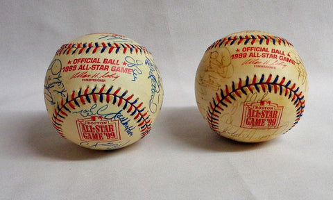 1999 Fenway Park All Star Game AL & NL Team Signed Baseball Lot Jeter Griffey