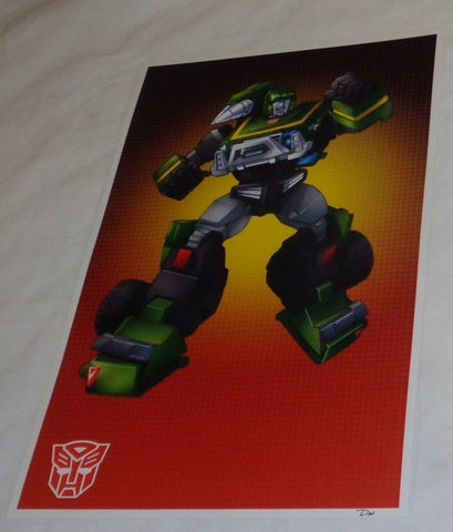 G1 Transformers Autobot Hound Jeep Poster 11x17 Box Art Grid FREESHIPPING