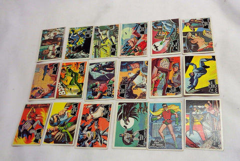 1966 Topps Batman Cards Lot of 18 Movie / TV Show Robin Joker Black Bat FREESHIP