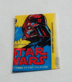 1977 Topps Mexican Mexico Star Wars Series 2 Empty Wax Wrapper Darth Vader