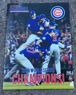 2016 World Series Champions Edition Chicago Baseball Magazine Program Cubs RARE