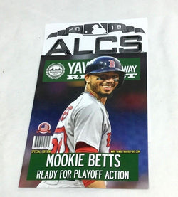 2018 ALCS Championship Series Yawkey Way Report Red Sox Program Magazine Betts