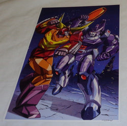 G1 Transformers Rodimus Prime vs Galvatron on Cybertron Poster 11x17 FREESHIP