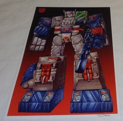 G1 Transformers Autobot Fortress Maximus Poster 11x17 Box Art Grid FREESHIPPING