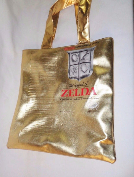 2008 Nintendo Legend of Zelda Gold Replica Game Shopper Tote Bag Purse FREESHIP