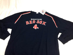 NEW Official Boston Red Sox Blue Long Sleeve Warm Up T Shirt Mens XXL FREESHIP