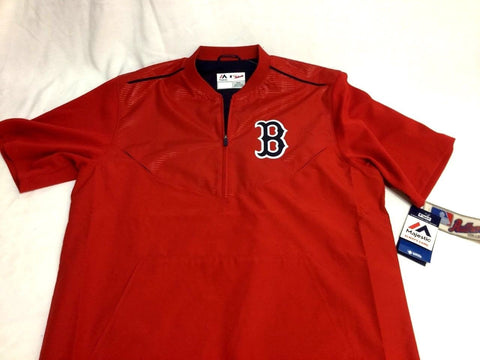 Boston Red Sox Majestic Red Home Batting Warm Up Jacket Pull Over Size XXLarge