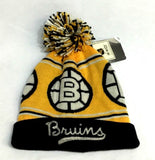 NHL Official Boston Bruins Winter Knit Cap Hat Beanie Pom Pom Style CCM FREESHIP